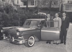Jerry, John, and Joe Jagers with 1957 Ford
